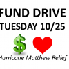 Fund Drive 10/25 to help CDS Families who lost homes in Hurricane Matthew