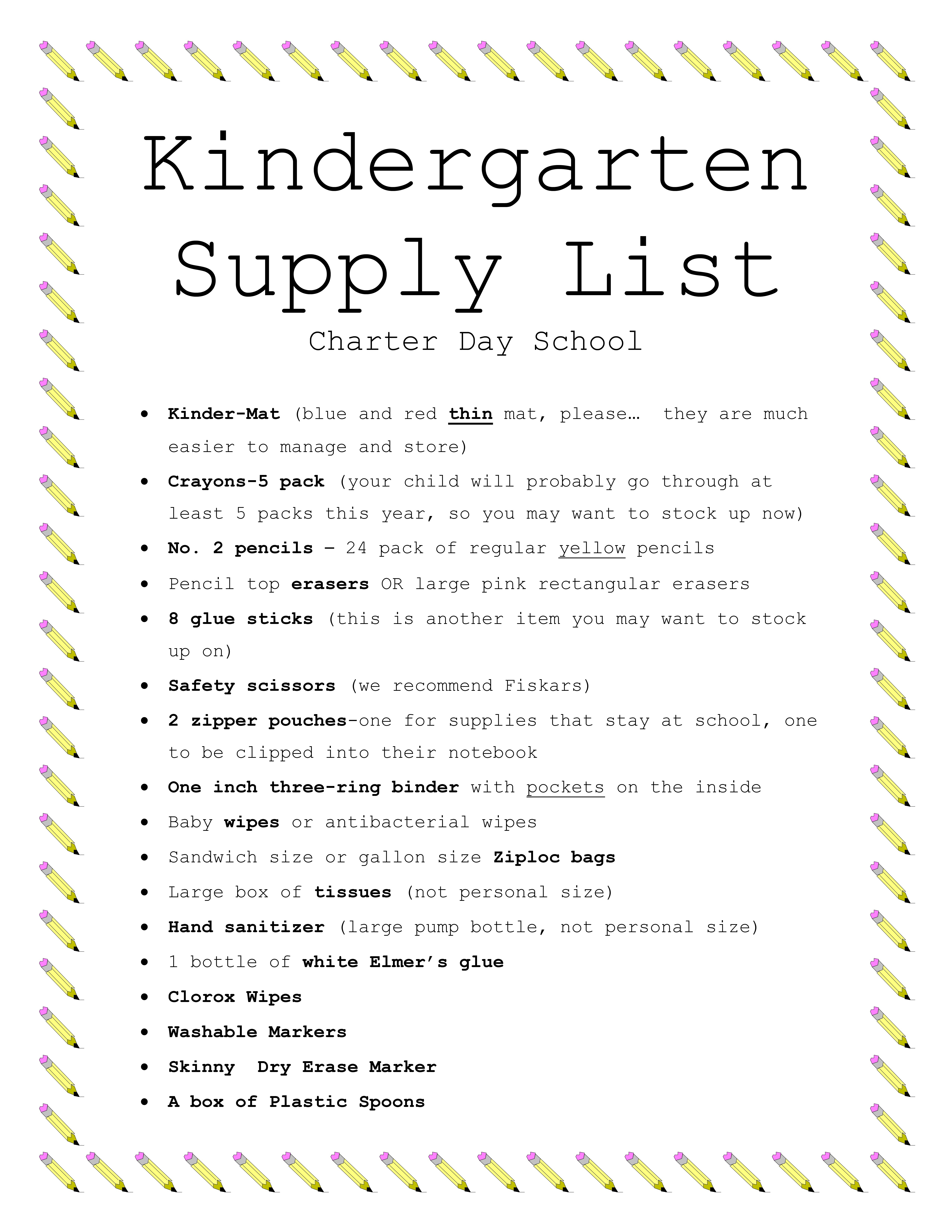 school supply list for preschool letter of intent kindergarten custom writing at 10 744