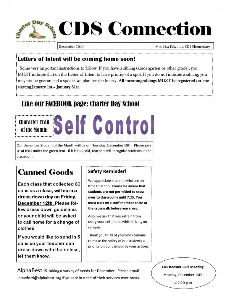 CDS Connection December 2014