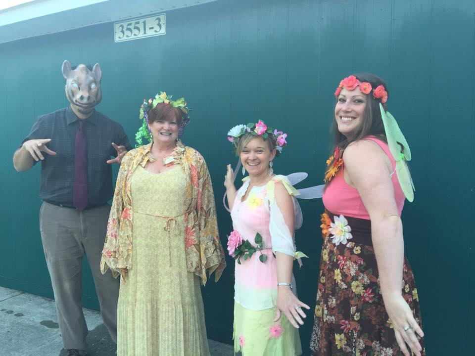 Teachers dress as peers of 'Peare's.