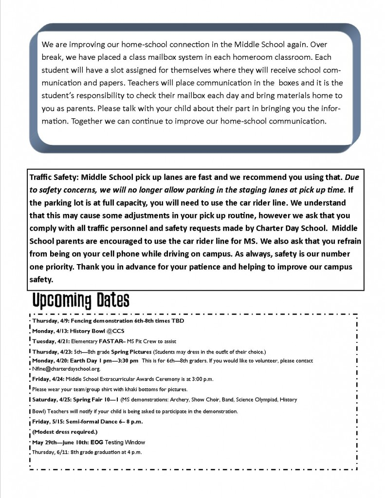 2015 April Middle School Minute Page 2
