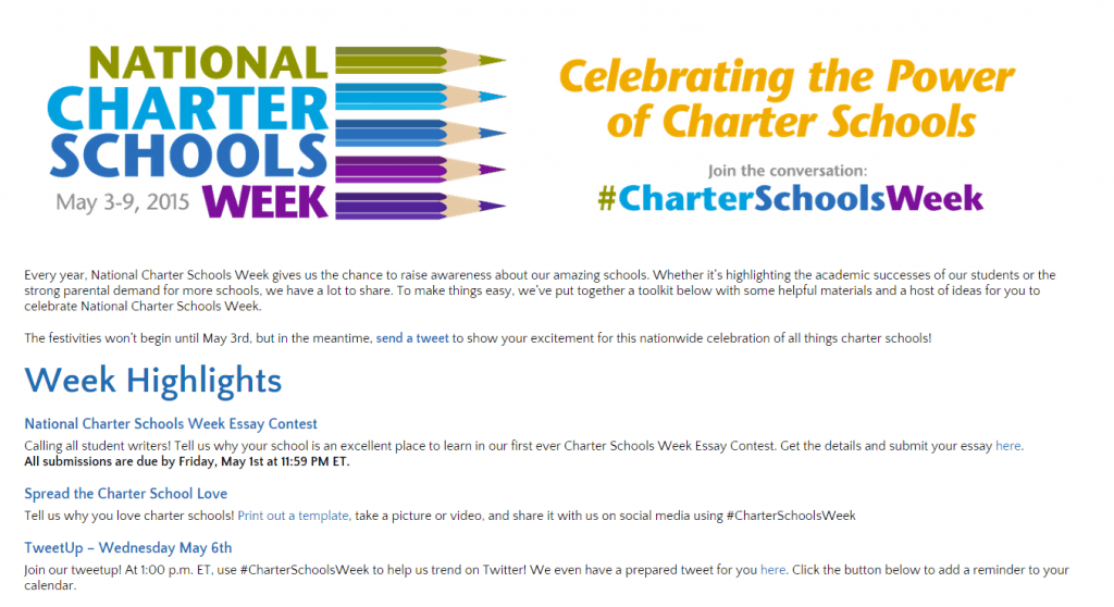 colorado charter school essay contest What is school choice school choice means giving parents access to the best k-12 education options for their children these options include traditional public schools, public charter schools, magnet schools, private schools, online academies, and homeschooling learn more.