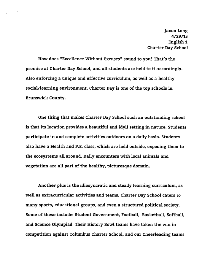our charter schools week winning essays acirc south brunswick jaxon s essay here